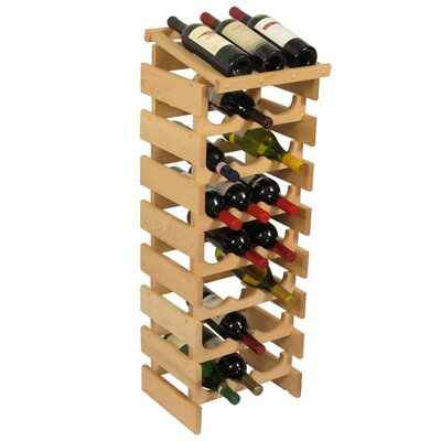 Dakota 24 Bottle Floor Wine Rack Finish: Unfinished