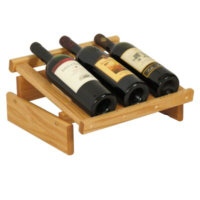 Dakota 3 Bottle Tabletop Wine Rack Finish: Light Oak