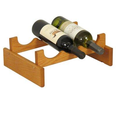 Dakota 3 Bottle Tabletop Wine Rack Finish: Medium Oak