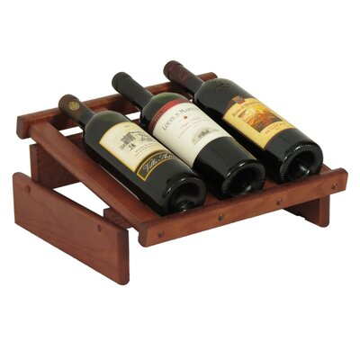 Dakota 3 Bottle Tabletop Wine Rack Finish: Mahogany
