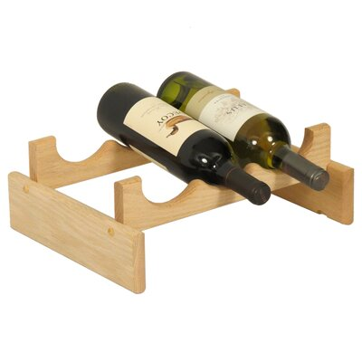 Dakota 3 Bottle Tabletop Wine Rack Finish: Unfinished