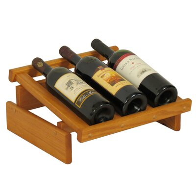 Dakota 3 Bottle Tabletop Wine Rack Finish: Medium Oak
