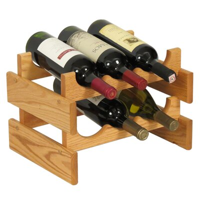 Dakota 6 Bottle Tabletop Wine Rack Finish: Black