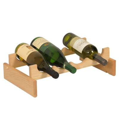 Dakota 4 Bottle Tabletop Wine Rack Finish: Unfinished