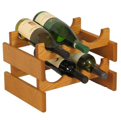Dakota 6 Bottle Tabletop Wine Rack Finish: Medium Oak