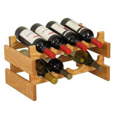 Dakota 8 Bottle Tabletop Wine Rack Finish: Light Oak