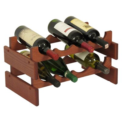 Dakota 8 Bottle Tabletop Wine Rack Finish: Mahogany