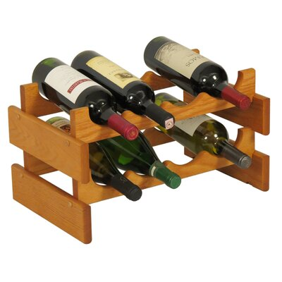 Dakota 8 Bottle Tabletop Wine Rack Finish: Medium Oak