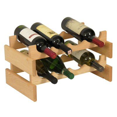 Dakota 8 Bottle Tabletop Wine Rack Finish: Unfinished