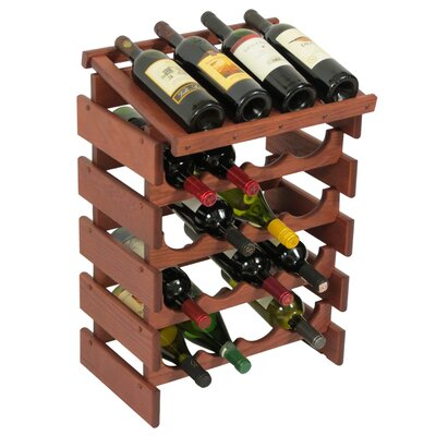 Dakota 20 Bottle Floor Wine Rack Finish: Mahogany
