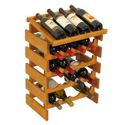 Dakota 20 Bottle Floor Wine Rack Finish: Medium Oak