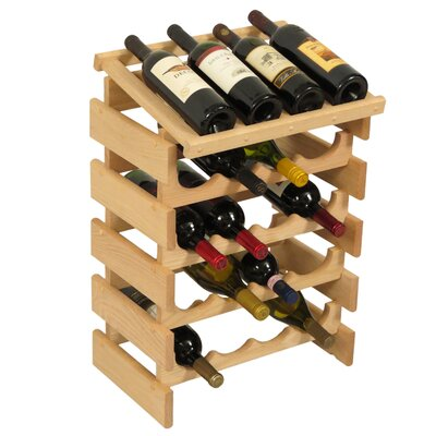 Dakota 20 Bottle Floor Wine Rack Finish: Unfinished