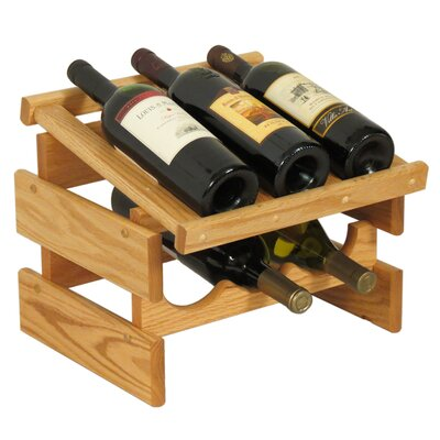Dakota 6 Bottle Tabletop Wine Rack Finish: Light Oak