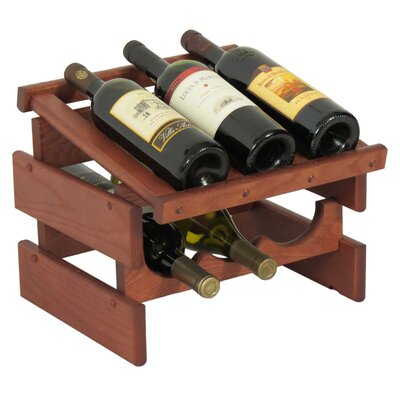 Dakota 6 Bottle Tabletop Wine Rack Finish: Mahogany