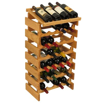 Dakota 28 Bottle Floor Wine Rack Finish: Black