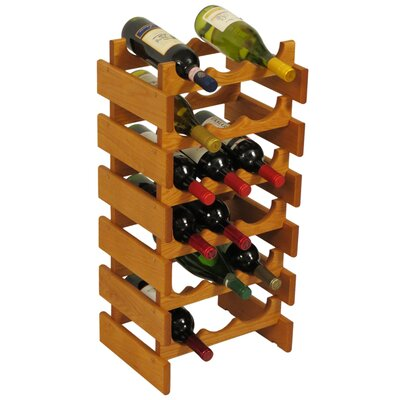 Dakota 18 Bottle Floor Wine Rack Finish: Medium Oak