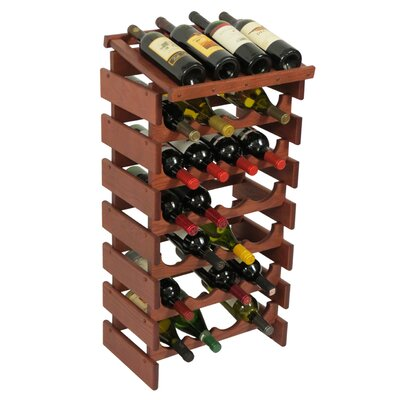 Dakota 28 Bottle Floor Wine Rack Finish: Mahogany