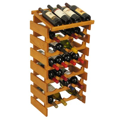 Dakota 28 Bottle Floor Wine Rack Finish: Medium Oak