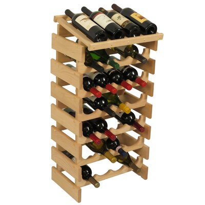 Dakota 28 Bottle Floor Wine Rack Finish: Unfinished