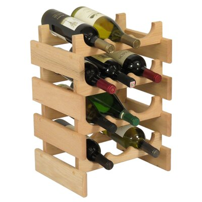Dakota 12 Bottle Floor Wine Rack Finish: Unfinished