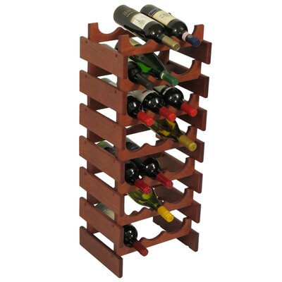 Dakota 21 Bottle Floor Wine Rack Finish: Mahogany