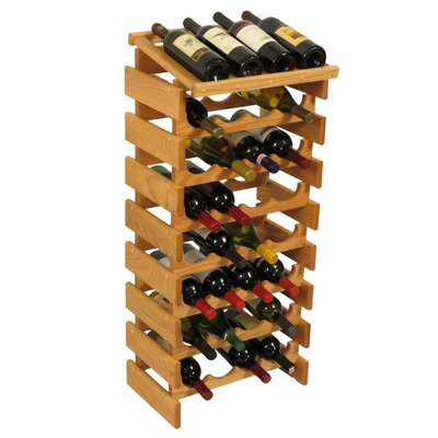 Dakota 32 Bottle Floor Wine Rack Finish: Light Oak
