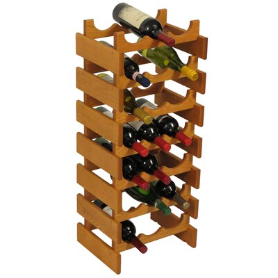 Dakota 21 Bottle Floor Wine Rack Finish: Medium Oak