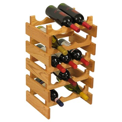 Dakota 15 Bottle Floor Wine Rack Finish: Black