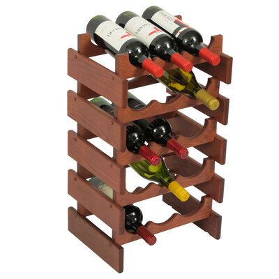 Dakota 15 Bottle Floor Wine Rack Finish: Mahogany
