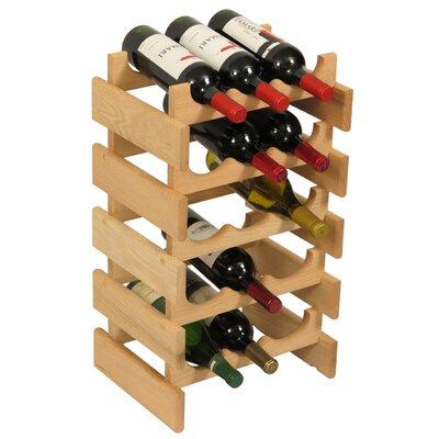 Dakota 15 Bottle Floor Wine Rack Finish: Unfinished