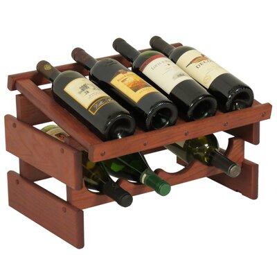 Dakota 8 Bottle Tabletop Wine Rack Finish: Mahogany
