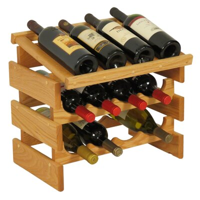 Dakota 12 Bottle Tabletop Wine Rack Finish: Light Oak