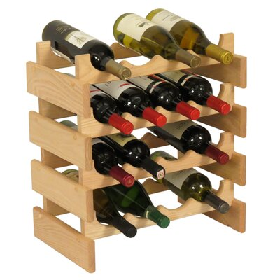 Dakota 16 Bottle Floor Wine Rack Finish: Unfinished