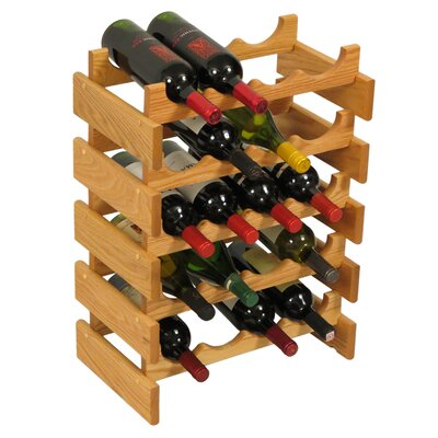 Dakota 20 Bottle Floor Wine Rack Finish: Black