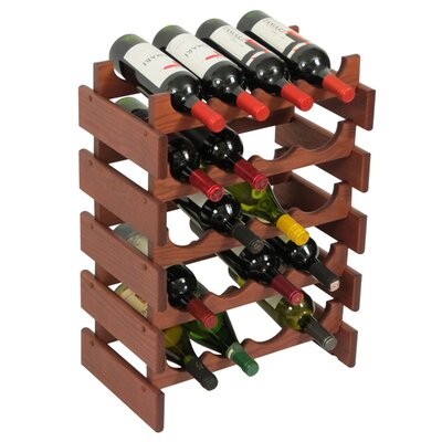 Dakota 20 Bottle Floor Wine Rack Finish: Mahogany