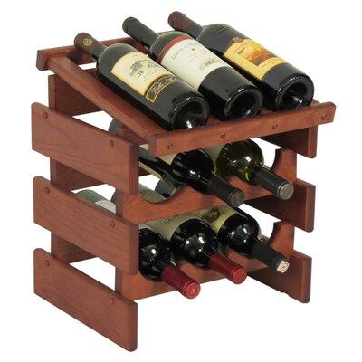 Dakota 9 Bottle Tabletop Wine Rack Finish: Mahogany