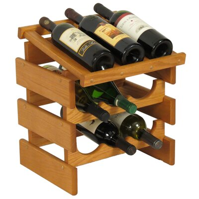 Dakota 9 Bottle Tabletop Wine Rack Finish: Medium Oak