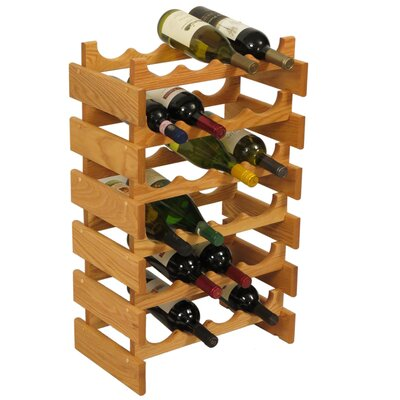 Dakota 24 Bottle Floor Wine Rack Finish: Light Oak