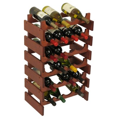 Dakota 24 Bottle Floor Wine Rack Finish: Mahogany