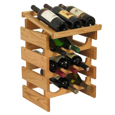 Dakota 12 Bottle Floor Wine Rack Finish: Light Oak