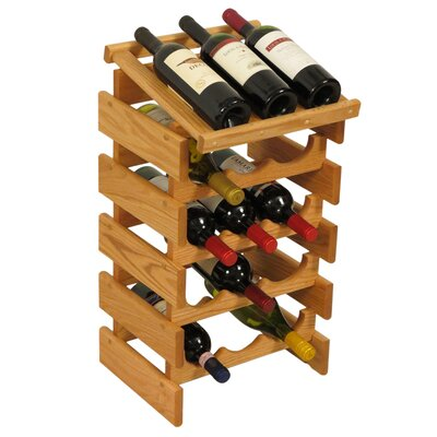 Dakota 15 Bottle Floor Wine Rack Finish: Light Oak