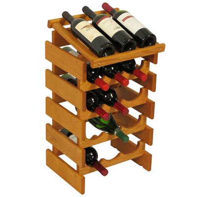 Dakota 15 Bottle Floor Wine Rack Finish: Medium Oak