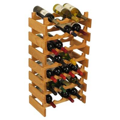 Dakota 28 Bottle Floor Wine Rack Finish: Light Oak
