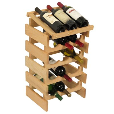 Dakota 15 Bottle Floor Wine Rack Finish: Unfinished