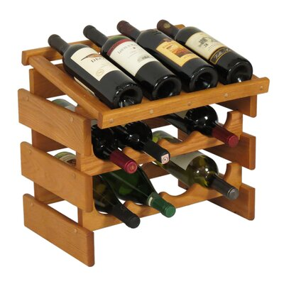 Dakota 12 Bottle Tabletop Wine Rack Finish: Medium Oak