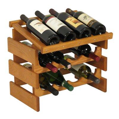 Dakota 12 Bottle Tabletop Wine Rack Finish: Medium Oak