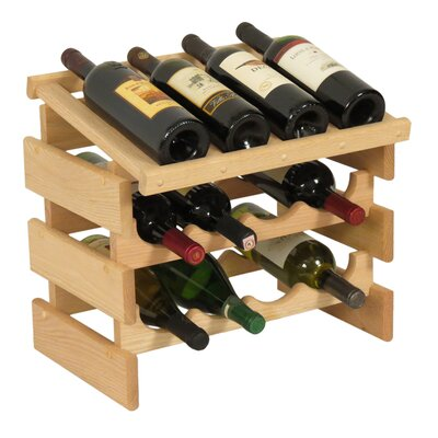 Dakota 12 Bottle Tabletop Wine Rack Finish: Unfinished