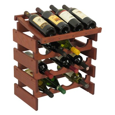 Dakota 16 Bottle Tabletop Wine Rack Finish: Mahogany