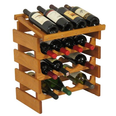 Dakota 16 Bottle Tabletop Wine Rack Finish: Medium Oak