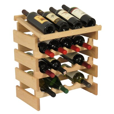 Dakota 16 Bottle Tabletop Wine Rack Finish: Unfinished